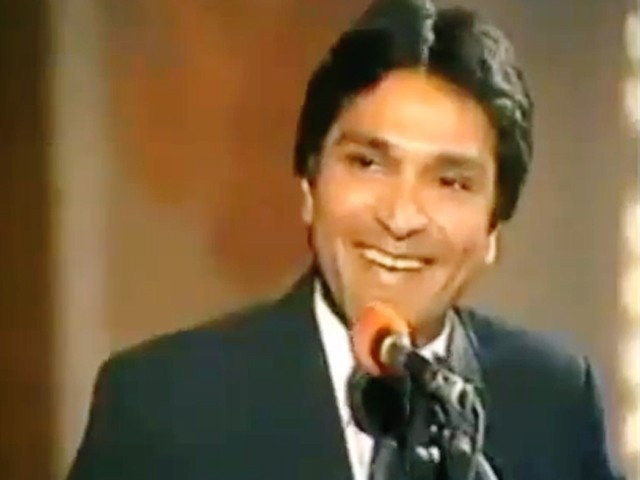 April 22 was the day laughter died. Moin Akhtar screen capture from his interview with Imran Khan.