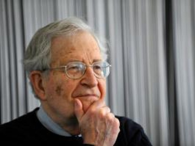 Renowned author Noam Chomsky believes Americans only serve themselves.