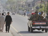 Soldiers patrol the city of Abbotabad in Pakistan's Khyber Pakhtunkhwa province May 2, 2011. Al Qaeda leader Osama bin Laden was killed Sunday in a firefight with U.S. forces in Pakistan and his body was recovered, President Barack Obama said on Sunday. Obama said U.S. forces led a targeted operation that killed bin Laden in Abbotabad, north of Islamabad. PHOTO:REUTERS
