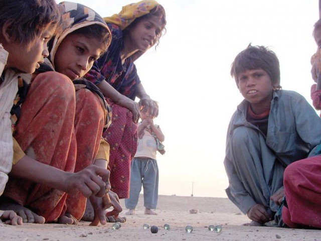 Out of the six million affected children, 3.5 million remain at high risk, plagued with malnutrition and disease.  PHOTO: SHAHID ALI/EXPRESS