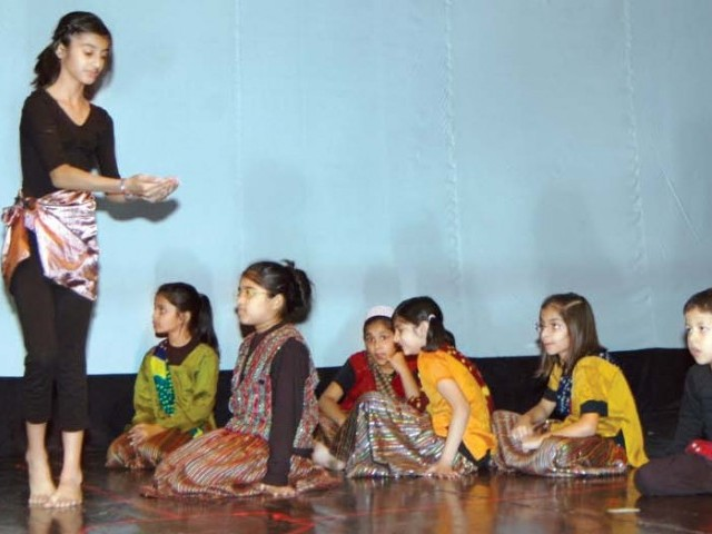 Children enact a series of meaningful performances, propped up with colourful attire and snappy dialogue to present a vibrant programme. PHOTOS: THE  EXPRESS TRIBUNE