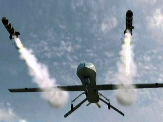 Drone strike kills six.