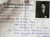 Shaukat Aziz's 1961 roll card. PHOTOGRAPHED FROM SCHOOL RECORDS BY HARIS ZUBERI