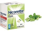 Nicotine gum is a non prescribed form of NRT (nicotine replacement therapy) that allows the user to control the amount of nicotine taken in every day. The aim is to gradually decrease the craving for nicotine and hence eliminate the need for smoking altogether. The gum allows for a rapid, oral intake of nicotine and is therefore quicker than a patch. Within 20-30 minutes, the desired nicotine level within the bloodstream is reached and the peppery taste of the gum indicates that it can now be spit out. Side effects include leaving a foul taste in the mouth, throat irritation and headaches. SOURCE: WWW.QUITSMOKING.ABOUT.COM