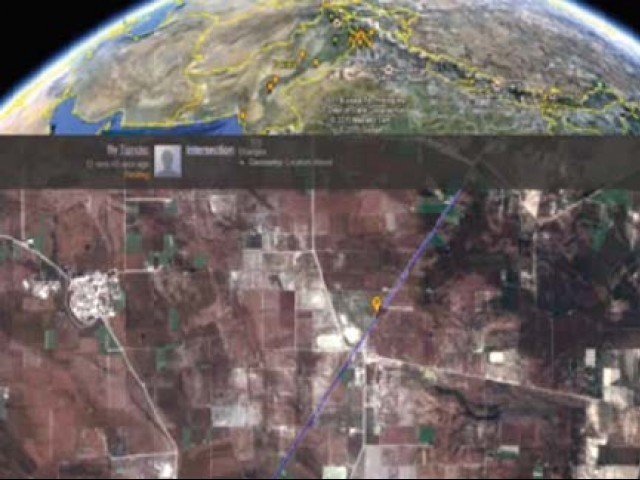 A screenshot of Google Pulse, a feature of Google Map maker, showing a map being drawn in real time.