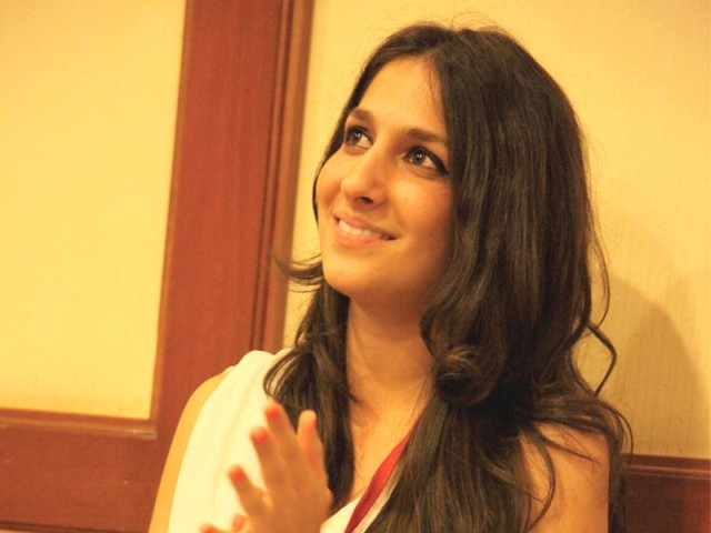 Shehrbano Taseer at the social media conference. PHOTO: NEFER SEHGAL