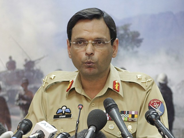 Pakistan army spokesman Major General Athar Abbas said in a statement sent by text message that the military rejects the insinuations made in the NYT story. PHOTO: EPA