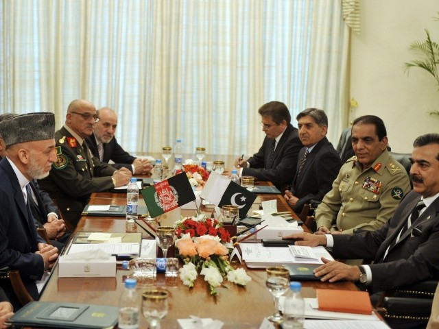 Both countries agree to deploy a joint task force against militant's infiltrations on Pak-Afghan border. PHOTO: AFP