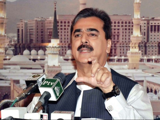 Prime Minister Yousaf Raza Gilani addressing the press conference. PHOTO: EXPRESS