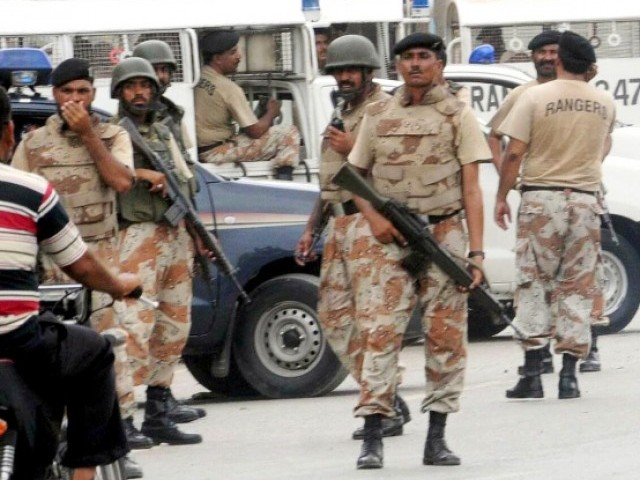 Sindh Rangers had earlier received a written notification for taking charge of the troubled areas, to conduct operations and take all 'necessary' actions to restore peace. PHOTO: EXPRESS/FILE