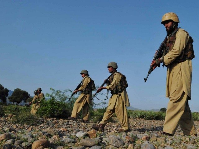 Eight militants and one Pakistani soldier were killed in a clash in the northwestern tribal region of Kurram. PHOTO: AFP/FILE