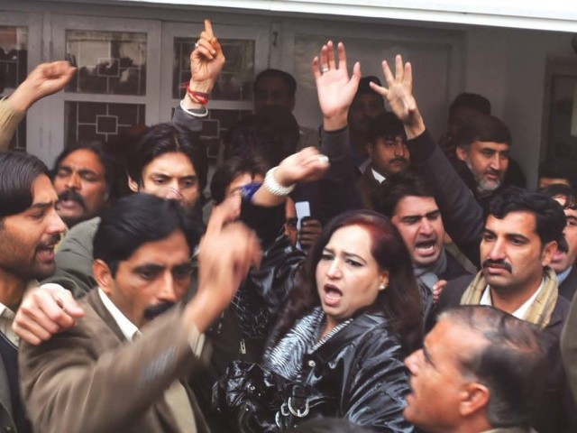 These employees were sacked on political grounds during Nawaz Sharif and Pervez Musharraf's tenures. PHOTO: EXPRESS