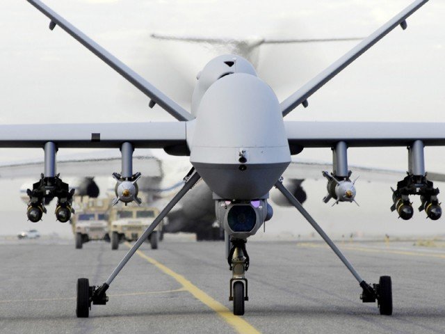 Drone strike kills four people in MirAli. PHOTO: USAF