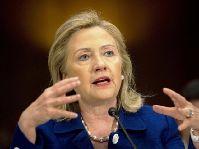 US Secretary of State Hillary Clinton has warned Congress that she will fight to block a Republican push to restrict aid for Israel's Arab neighbors and Pakistan and cut off climate change funds. PHOTO: AFP/FILE