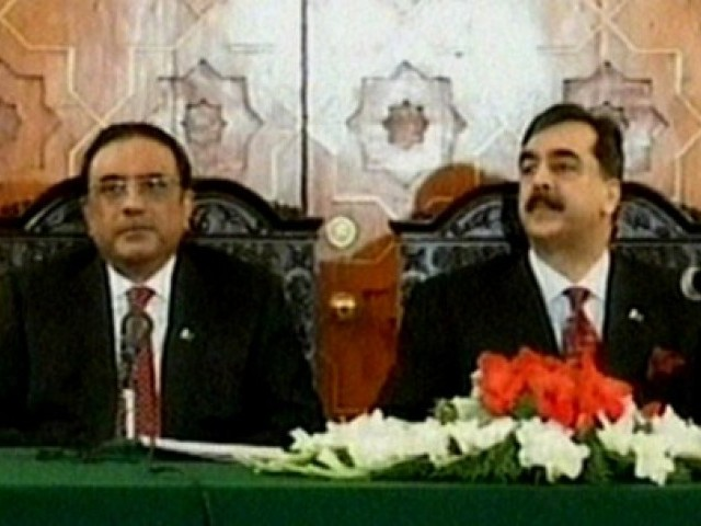 Prime Minister Yousaf Raza Gilani was present at the signing with President Asif Ali Zardari. PHOTO: EXPRESS/FILE