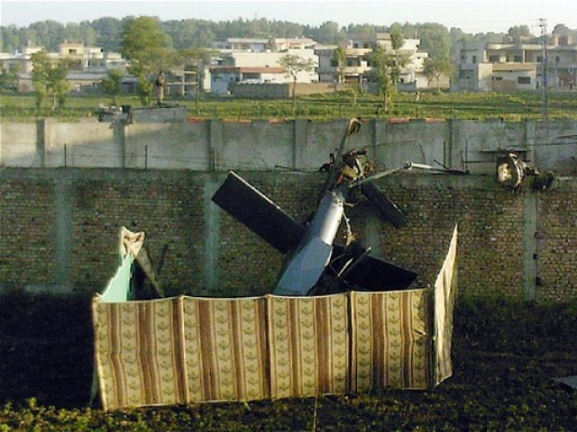 During the raid, one of two modified Blackhawk helicopters, believed to employ unknown stealth capability, malfunctioned and crashed, forcing the commandos to abandon it.
