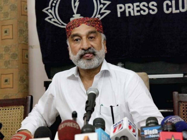 Zulfiqar Mirza's press conference on Sunday continued to make waves throughout Sindh the next day. PHOTO: NEFER SEHGAL/EXPRESS