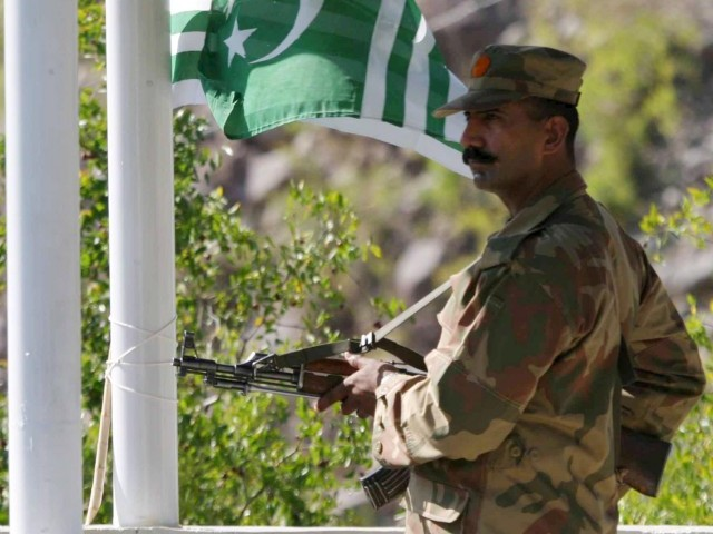 Indian border forces opened fire on Dhudnial checkpost on Tuesday, confirms ISPR. PHOTO: EPA/FILE