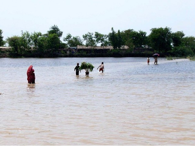 About 250 villages were inundated and had to be evacuated. PHOTO: APP