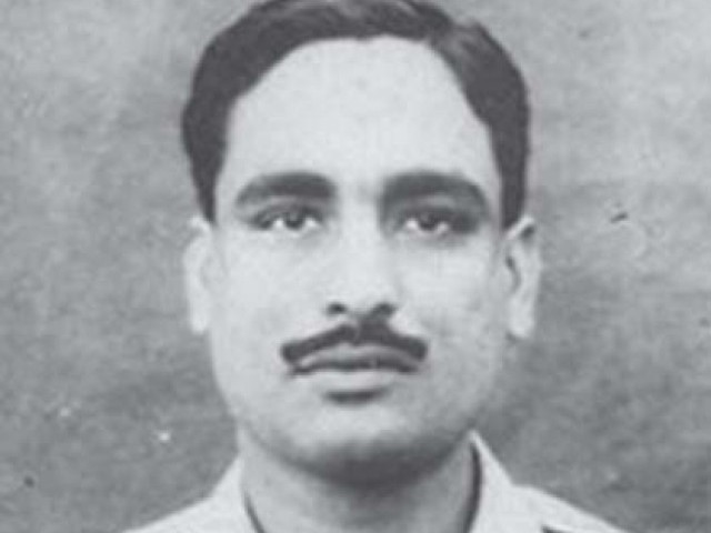 Photo of Squadron Leader Aslam Qureshi (Navigator).