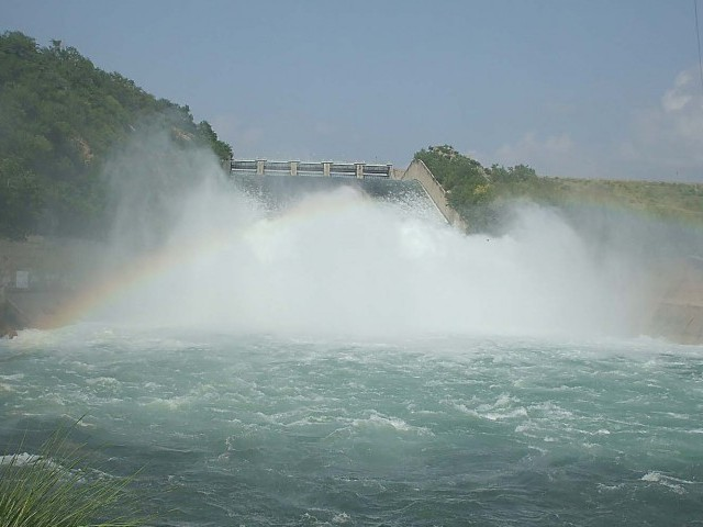 The spillway was opened after the dam reached its maximum conservation level. PHOTO: SADAQAT