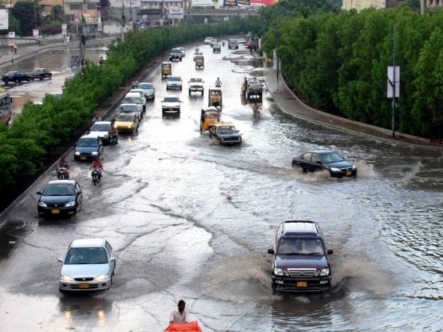 Monsoon rains forecast to extend into Wednesday. PHOTO: MOHAMMAD AZEEM/EXPRESS