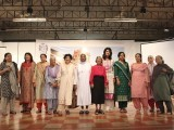 Aileen Soares, Sabra Siddiqi, Nilofer Minhas, Seema Yousuf, Qaseem Fatima, Shireen Afzal, Zaibunissa Sikandar, Nuzhat Sattar, Gulnaz Mondegarian pictured with Sr Julie and Naseema Kapadia. The domestic staff honoured included Sadiq, Taj, Rashid, Javed, Jamil, Mushtaq. PHOTOS NEFER SEHGAL-EXPRESS
