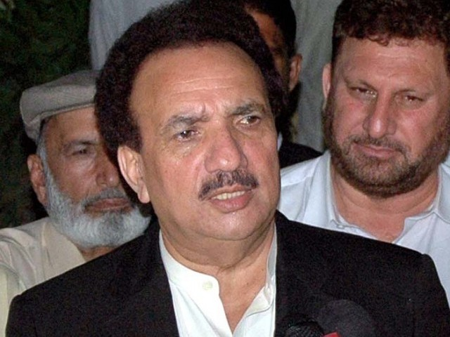 Rehman Malik says Google and Youtube ought to help Pakistan government work against terrorists. PHOTO: FILE/APP