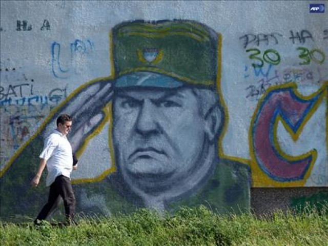 The trial of Ratko Mladic at the International Criminal Tribunal for the former Yugoslavia, where the Hague charged Mladic with genocide, and crimes against humanity. PHOTO: AFP