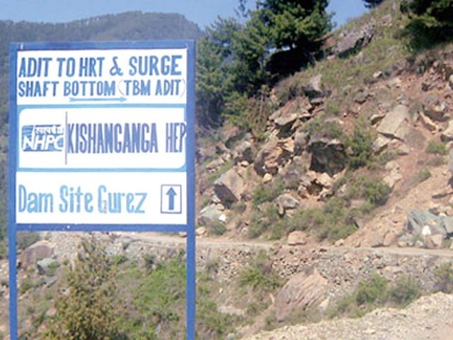 Construction site of the Kishanganga Hydroelectric Project. PHOTO COURTESY: HALCROW