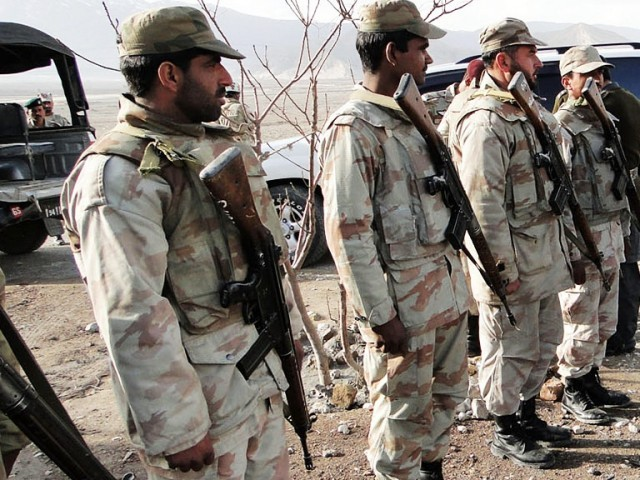 FC personnel seized an explosive device near the FC fort in Dera Bugti. PHOTO: PPI/FILE