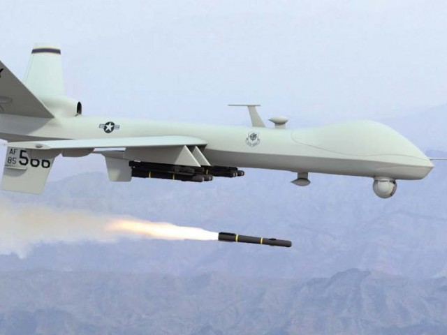 A drone fired two missiles at a compound in Azam Warsak.