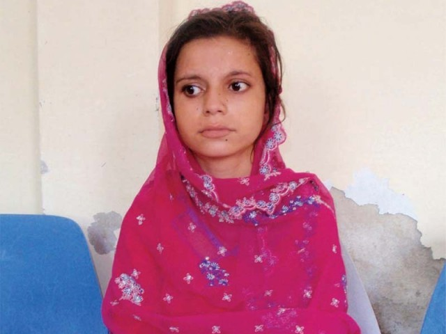 Decked in her finest clothes, 11-year-old Nadia sat waiting for a judgement. PHOTO: EXPRESS