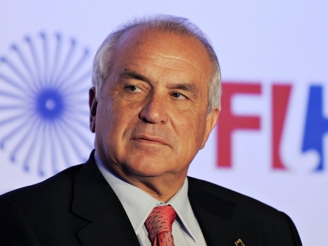 FIH also wants Indian government to settle money owed for organising the World Cup in New Delhi in March last year. PHOTO: AFP/FILE