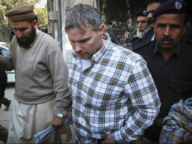 While working as a CIA contractor in Pakistan, Davis shot two men dead in Lahore on January 27, saying they were trying to rob him. PHOTO: REUTERS/FILE