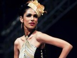 Creations by the Pakistani designer Trevor Castelino on the first day of Karachi Fashion Week 6th October 2011 PHOTO: AFP
