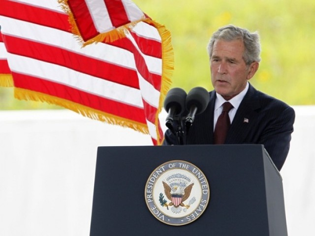 Former US president George W. Bush speaks at the ceremony marking the opening of the Flight 93 National Memorial and the 10th anniversary of the 9/11 attack in Shanksville, Pennsylvania September 10, 2011. PHOTO: REUTERS/FILE