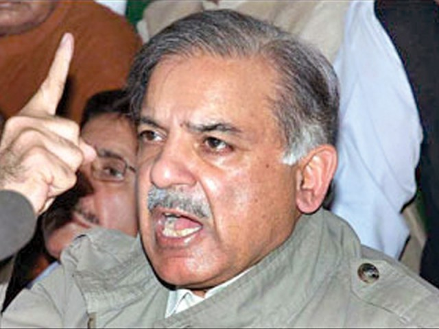 Shahbaz Sharif addresses Lahore rally.