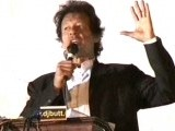 Imran Khan addresses over 100,000 supporters.