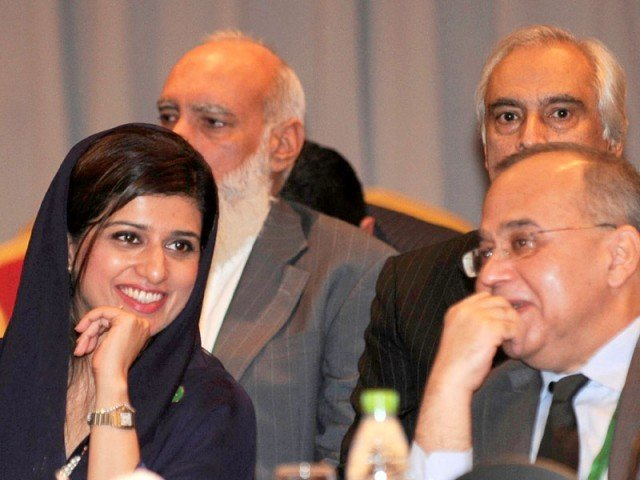 Foreign Minister Hina Rabbani Khar with Foreign Secretary Salman Bashir at the 17th SAARC foreign ministers conference in Addu. PHOTO: AFP