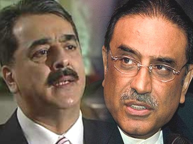 PM Gilani (left) said the government had defended the military and the ISI whenever there was crisis in the past and will continue to do so in the future as well. President Zardari (right). Photo: file