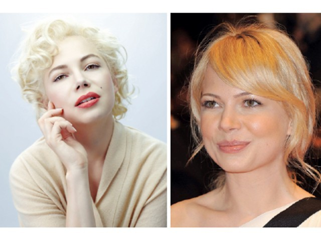 Actor Michelle Williams, as Marilyn Monroe, in a scene from director Simon Curtis' new film My Week With Marilyn. PHOTOS: REUTERS