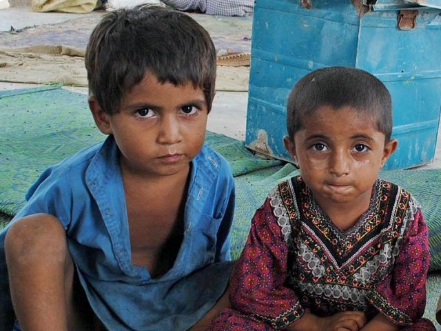 30 per cent of children in Sindh are suffering from severe malnutrition. PHOTO: INP