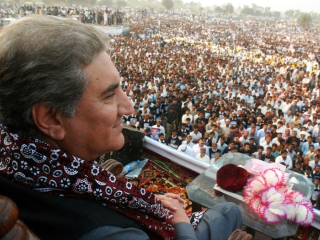 Shah Mahmood Qureshi joins the PTI. PHOTO: AFP