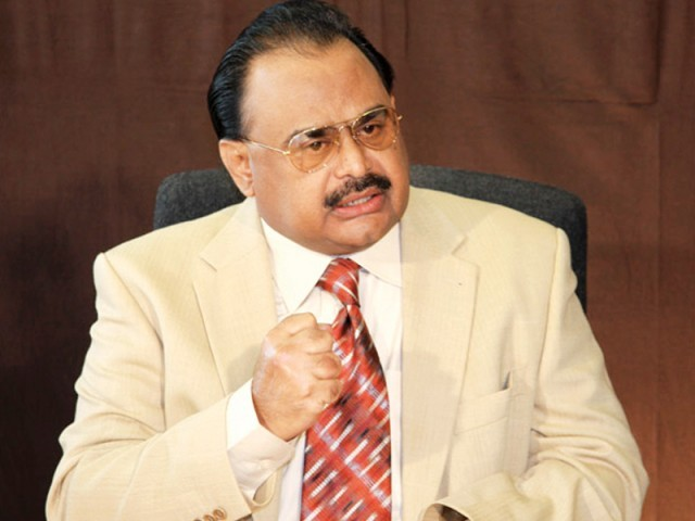Altaf Hussain assures President Zardari that the whole nation stands by the Pakistan army. PHOTO: APP/FILE