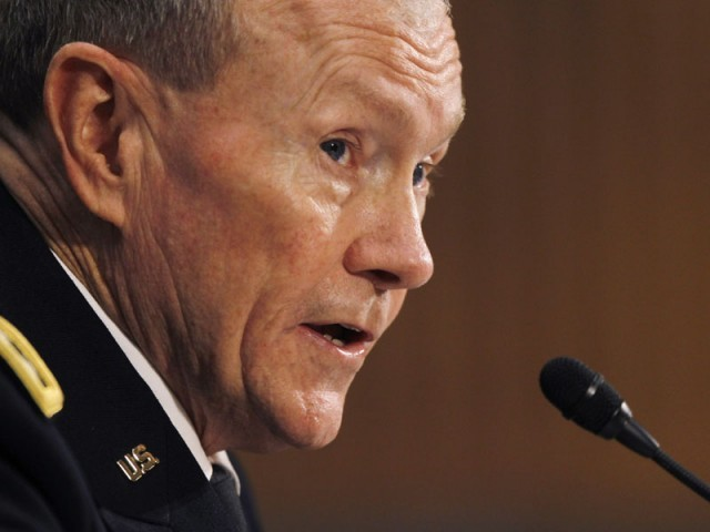 General Martin Dempsey says they have no reason to attack Pakistani check post. PHOTO: REUTERS/FILE