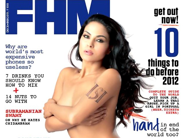 The cover for the December 2011 issue of the magazine. PHOTO: FHMINDIA.COM
