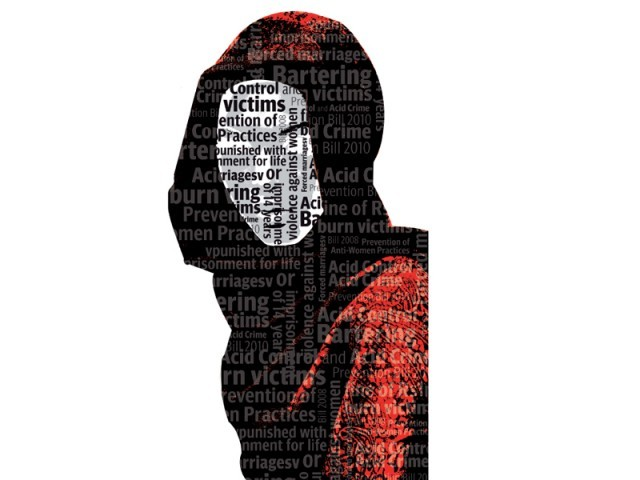 The bill was introduced last year by then MNA Marvi Memon, MNA Begum Shahnaz Sheikh and Advocate Anusha Rehman in a bid to prevent the growing incidents of violence against women. DESIGN: FAIZAN DAWOOD