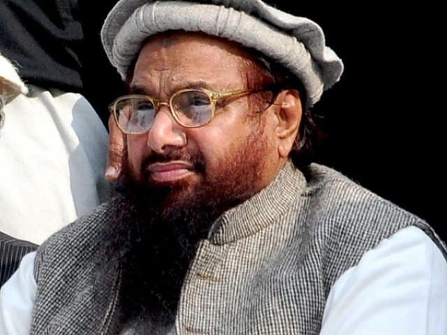 Makes first call for jihad at public rally since UN ban on Jamaatud Dawa. PHOTO: EXPRESS/FILE