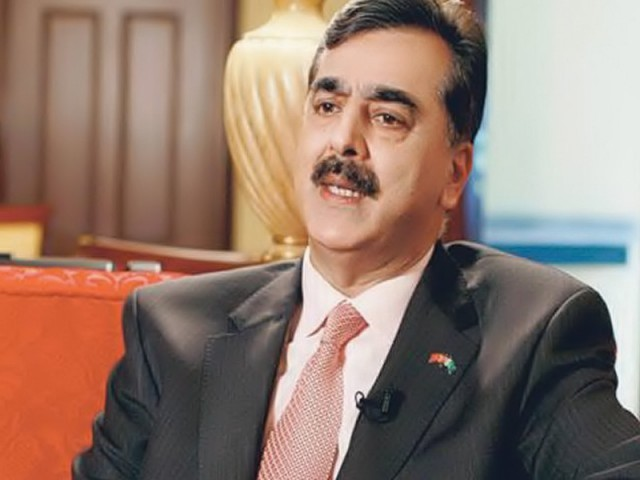 Gilani discusses government rejoinder with senior PPP members at meeting. PHOTO: FILE